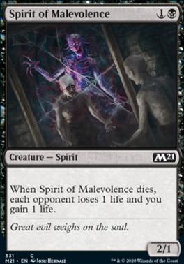 Core Set 2021: Spirit of Malevolence (Planeswalker Deck)