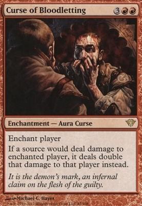 Dark Ascension Foil: Curse of Bloodletting