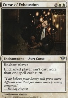 Dark Ascension Foil: Curse of Exhaustion