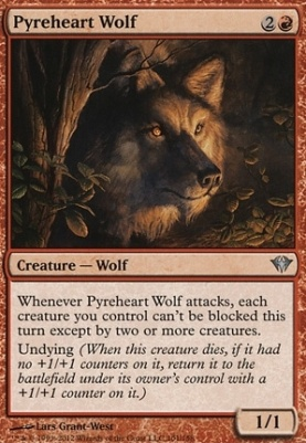Dark Ascension Foil: Pyreheart Wolf