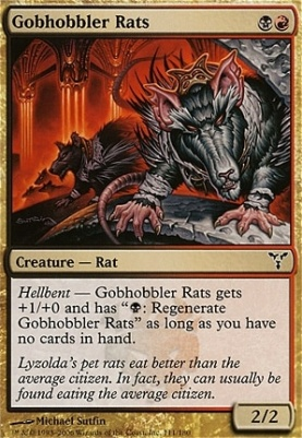 Hellhole Rats FOIL Dissension PLD Black Red Uncommon MAGIC MTG CARD ABUGames