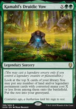 MTG Standard Cards & Prices | Dominaria | Kamahl's Druidic Vow |