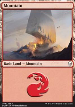 Dominaria Foil: Mountain (263 B)