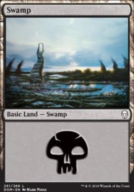 Dominaria Foil: Swamp (261 D)