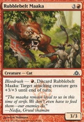 Dragon's Maze Foil: Rubblebelt Maaka