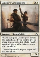 Dragon's Maze Foil: Sunspire Gatekeepers