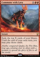 Dragons of Tarkir Foil: Commune with Lava