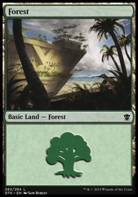 Dragons of Tarkir: Forest (262 A)