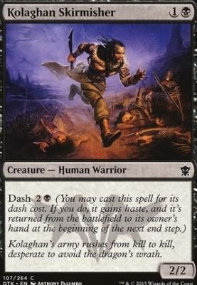 Dragons of Tarkir Foil: Kolaghan Skirmisher