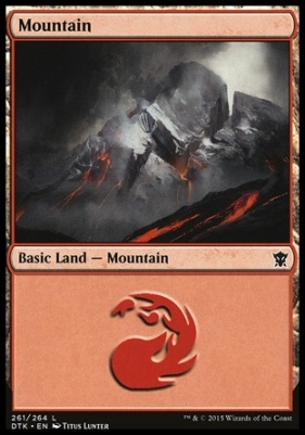 Dragons of Tarkir Foil: Mountain (261 C)