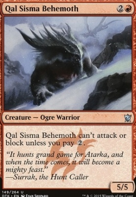 Dragons of Tarkir: Qal Sisma Behemoth