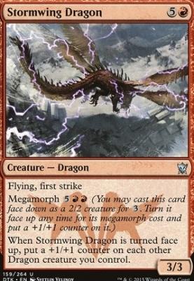Dragons of Tarkir Foil: Stormwing Dragon