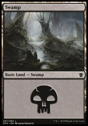Dragons of Tarkir: Swamp (257 B)