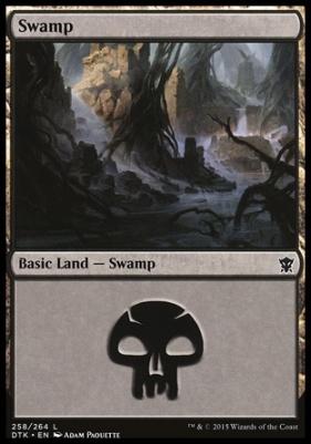 Dragons of Tarkir: Swamp (258 C)