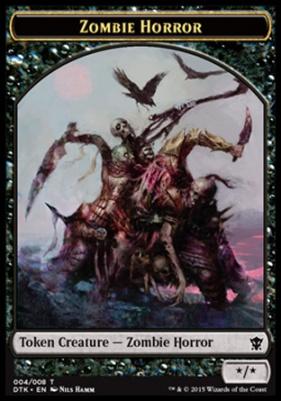 Dragons of Tarkir: Zombie Horror Token