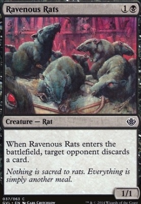 Duel Decks: Anthology: Ravenous Rats (Garruk vs Liliana)