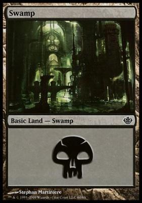 Duel Decks: Garruk Vs. Liliana: Swamp (60 A)
