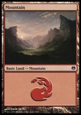 Duel Decks: Heroes Vs. Monsters: Mountain (36 B)
