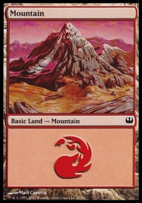 Duel Decks: Knights Vs. Dragons: Mountain (81 D)