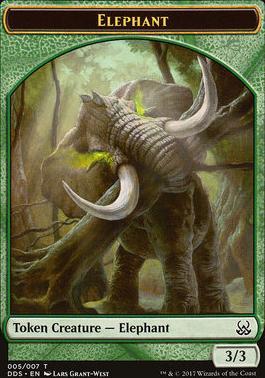 Duel Decks: Mind Vs. Might: Elephant Token