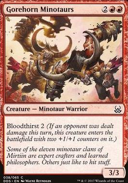 Duel Decks: Mind Vs. Might: Gorehorn Minotaurs