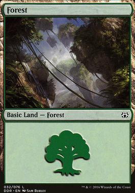 Duel Decks: Nissa Vs. Ob Nixilis: Forest (32 B)