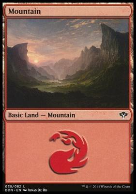 Duel Decks: Speed Vs. Cunning: Mountain (35 A)