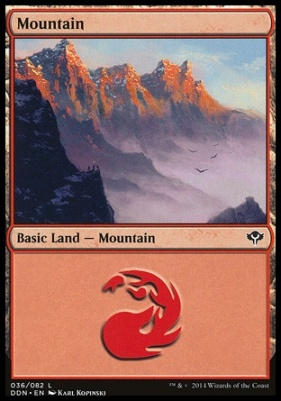 Duel Decks: Speed Vs. Cunning: Mountain (36 B)
