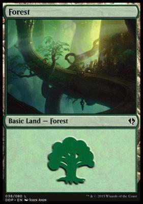Duel Decks: Zendikar Vs. Eldrazi: Forest (38 A)