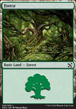 Duel Decks: Elves Vs. Inventors: Forest (32 B)