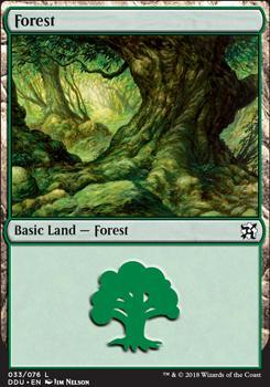 Duel Decks: Elves Vs. Inventors: Forest (33 C)