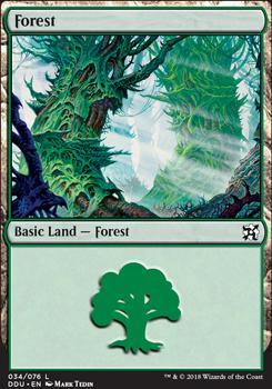 Duel Decks: Elves Vs. Inventors: Forest (34 D)