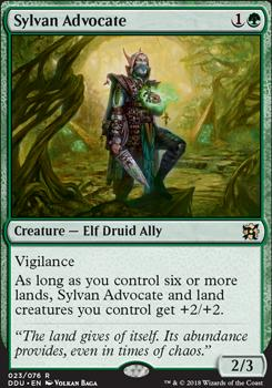 Duel Decks: Elves Vs. Inventors: Sylvan Advocate