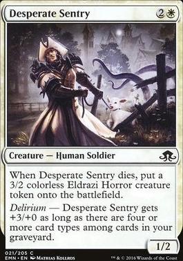 Eldritch Moon Foil: Desperate Sentry