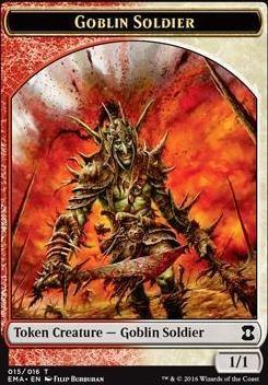 Eternal Masters: Goblin Soldier Token (Red/White)