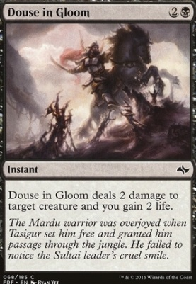 Fate Reforged Foil: Douse in Gloom
