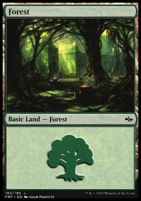 Fate Reforged Foil: Forest (185 B)
