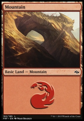 Fate Reforged: Mountain (182 A)