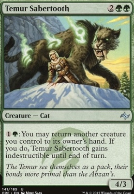 Fate Reforged: Temur Sabertooth