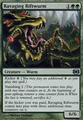 Future Sight Foil: Ravaging Riftwurm