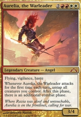 Gatecrash Foil: Aurelia, the Warleader