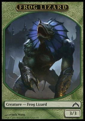 Gatecrash: Frog Lizard Token
