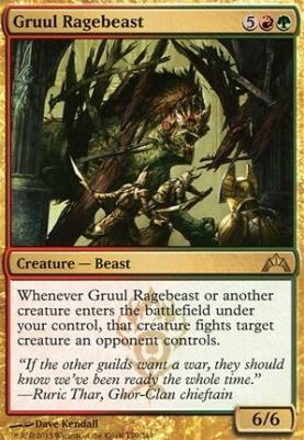 Gatecrash Foil: Gruul Ragebeast