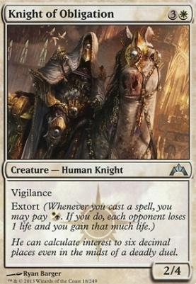 Gatecrash: Knight of Obligation