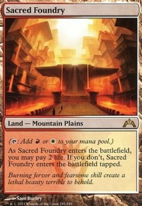 Gatecrash Foil: Sacred Foundry