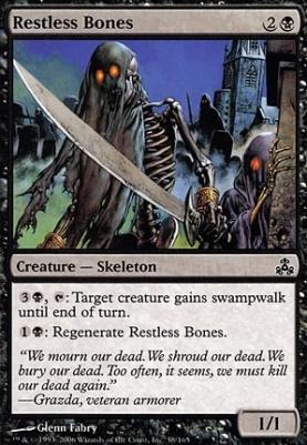 Restless Bones MTG GUILDPACT foil