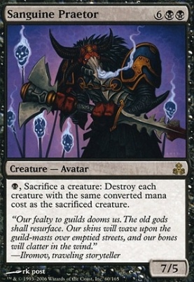 mtg modern card prices guildpact sanguine praetor