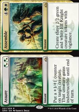 Guilds of Ravnica Foil: Assure // Assemble
