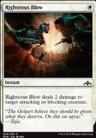 Guilds of Ravnica Foil: Righteous Blow