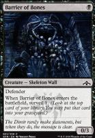 Guilds of Ravnica Foil: Barrier of Bones